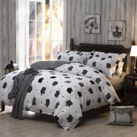 apple comforter - Factory Direct Black And White Apple Bedding Plain Printed Bedlinen Cheap Soft Comforter Set Or