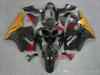 plastic injection molding - Painted yellow and green custom plastic injection molding fairing Kawasaki Ninja ZX12R