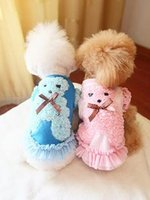 Wholesale Fashion Dog Clothes Cute Puppy Pink Dog Lace Dress and Pants Pet Clothing and Retail
