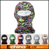 Wholesale 16 Designs Ghost D Thin Outdoor Cycling Bicycle Balaclava Full Face Mask Hat Motorcycle Cs