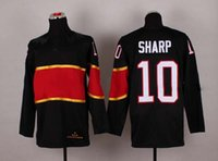 Cheap 2014 Sochi Olympic Hockey Jersey #10 Patrick Sharp Black Ice Hockey Jerseys
