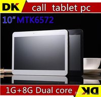 Cheap HOT! New 10 inch MTK6572 3G phone call tablet pc Dual core camera SIM card 1G+8G Andriod4.2 GPS Bluetooth free shipping!discount 20PCS