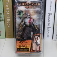 al por mayor figuras de acción de la guerra dios-NECA Dios de la guerra Kratos en la armadura de oro del paño grueso y suave con la cabeza de la medusa 7.5