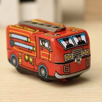 Cheap NEW Arrival Vintage Classic Firefighter Fire Engine Truck Clockwork Wind Up Tin Educational Toys Perfect Gift for Children