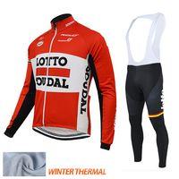 al por mayor ropa de lana polar-LOTTO SOUDAL 2015 ropa de ciclismo invierno polar térmica ciclismo jerseys conjuntos bicicleta de montaña deporte pro equipo ciclismo ropa de invierno