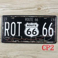 Wholesale CP2 Route Vintage Metal Tin Signs Bar Pub Cafe Home Art Metal Signs Size about cm