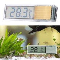 aquarium led controller - Mini Transparent Thermometer for Aquarium Digital LED Fish Tank Temperature Meter Fish Tank Diagnostic tool Aquarium Acceaaories