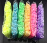 Wholesale Hi quality DIY Colorful Fluorescent Bands Loom Kit Rainbow Rubber Bracelets With S C Clips