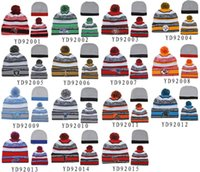 Beanie/Skull Cap best fishing hats - New Football Beanies All Teams Pom Pom Beanies Team Hat Winter Caps Popular Beanie Caps Skull Caps Best Quality Sports Caps Allow Mix Order