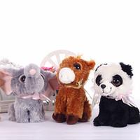 al por mayor una variedad de animales de peluche-una variedad de ojos grandes lindo caliente que se sienta animales juguetes de peluche de panda cachorro de zorro caballo elepant 19cm perro de peluche de los niños del bebé de peluche Peluches juguete