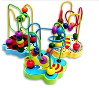 Wholesale 6 M Colorful water basis paint baby s favorate Mini Around Beads Educational Toy