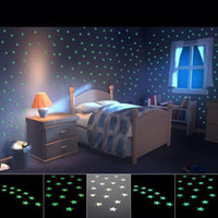 Wholesale Five pointed Star Nursery Room Wall Stickers Home Wall Glow In The Dark Light Green Star Stickers