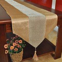 Wholesale 2015 New European Minimalist Home Decor Fabric Table Cloth Diamond Velvet Home Textile Table Runner Quality Table Flag