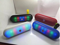 b lights portable - JHW V3188 B Logo Bluetooth Speaker LED Pill Speaker Wireless Big Sound Box With LED Flash Lighting Support FM TF Card U disk DHL Free