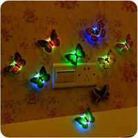 abs colored lights - Brand New Colors Lovely Changing Beautiful Cute ABS Butterfly LED Night Light Lamp Excellent Quality