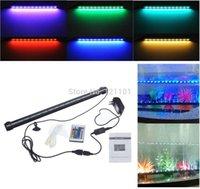 Wholesale cm w LED Bubble Aquarium Light Degree RGB Colors Waterproof Remote Control Fish Tank LED Light Bar