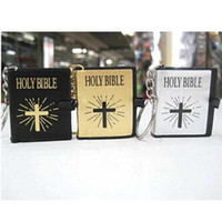 bible key chains - 2015wholesale HOLY BIBLE keychain Religious Christian Jesus Book Key chain Key Chain Keyring Chaveiro Gift Souvenir Llaveros