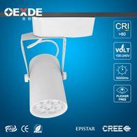 Wholesale clothing spotlights Black White Shell LED Track Lights Angle Warm Natural Cool White Ceiling Spot AC V CE ROHS CS
