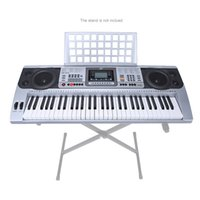 Wholesale 61 Keys Multifunctional LCD Display Digital Keyboard Electric Piano Organ with USB Wheel Sheet Music Holder Gift for Beginners