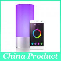 venda por atacado bedside lamp-Bluetooth Mini Speaker LED Night Light blutooth Speaker de cabeceira Lamp Touch Control Speaker Cor Mudar Lâmpada de tabela Luzes 010252