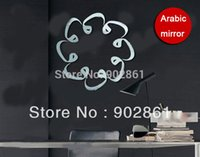 adhesive composition - funlife x40cm x16in Arabic alphabet Composition wall mirror sticker adhesive poster decoration interior home