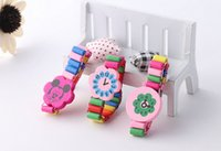 Wholesale Children wooden play watch kids wood bracelet brithday party gift toy children s Jewelry