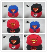 dc hats - 2015 Boys Girls DC Comics Originals Hats Man Lady Hip Hot Caps Base Ball Hat Boy Girl Students Super man Logo Ball Cap Designs D3656