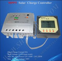 High Efficiency Max Solar Panel Open Voltage 100V Auto Work 12V 24V 10A Rohs MPPT Chargeur solaire Contrôleur