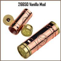 Cheap 26650 Vanilla red copper mech mod mechanical mod e cig vaporizer pen ecig VS stingray stainless nemesis 26650 panzer and kayfun atomizer
