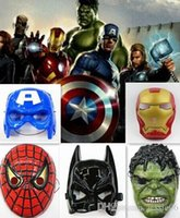 halloween props - Superheros mask America Captain Batman Iron Man Hulk Spiderman Avengers mask adult children anime event party masks Cosplay props gift EMS
