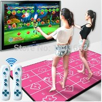 Wholesale Send GB sd card wireless controller Double dance pad dance mat Non Slip Dancing Step Dance Game Mat Pad for TV PC with USB