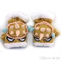 Wholesale LOL pairs Winter new folder Rammus Stuffed Plush Barbed Warm Children Gloves High quality Christmas Gift for cosplay Gift For Kids