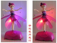 Wholesale New DIY Flying Fairy Dolls for girls Learning Education Infrared Induction Control Flying Angel Doll Baby toys