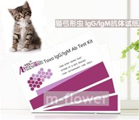 Wholesale TOXO IgG IgM Feline Cat Toxoplasmosis Ab One Step Rapid Test Kit test pouch