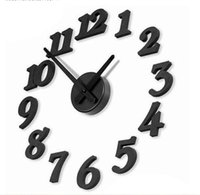 Wholesale 15 off hot sale fashion DIY wall clock Creative clock digital wall clock Art clock drop shipping