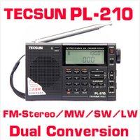 Wholesale Original Retail Digital World Band Receiver TECSUN PL PLL PL210 FM Stereo SW MW LW pl Portable Radio