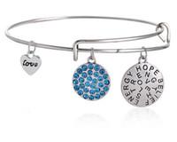 Wholesale Vintage Hope Love Charm Bracelet Expandable Women Bangles Alex Ani Style jewelry for women hot sale bangle