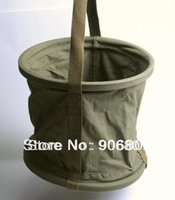 Wholesale Collapsible Canvas Water Bucket Bag Good Quality Collectable Military Supplies