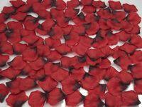 silk rose petals - 2015 Real Silk Rose Petals For Wedding Decorations Red Roses Black Artificial Rose QUEEN BRIDAL