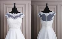 apricot design - Modest Lace Tulle Jackets Bateau Neck Cap Sleeves Unique Design Wedding Bridal Bolero Jackets Bridal Accessories Cheap