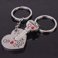 beautiful love acrylics - 1 Pair Key chain to My Heart Couple Keychain quot I LOVE YOU quot for Beautiful Gift