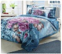 Cheap High Quality 3D Comforter Bedding Sets Bed Linen Cotton Reactive Print 3D Duvet Cover Bedsheet Set King Queen Size Bedspreads