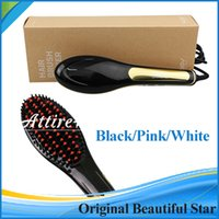 china star - 100 Original Beautiful Star Nasv hair straightners with Led Display Temperature Control V ceramic hair straightener Colors DHL