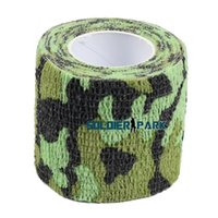 airsoft gun camo - Newest Airsoft Tactical Hunting Paintball Camo Bandage Tape for Gun Cloths Camera Flashlight m x cm for One Roll Green Camo order lt no