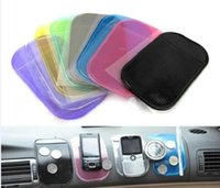Wholesale Magic Black Car Dashboard Sticky Pad Mat Anti Non Slip Powerful Silica Gel Magic Car Sticky Pads for cell phones