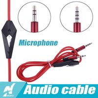 Wholesale High Quality mm Audio Cable AUX Auxiliary Cord Male to Male Stereo Microphone For PC for iPod Laptop DVD MP3