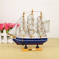 antique decoration ideas - Mediterranean sailboat sailing ornaments home decorations wood crafts student gift ideas birthday gift