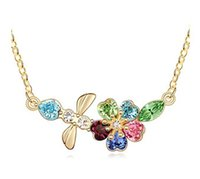 austrian fashion designers - Charm Designer Jewelry Made With Swarovski Elements Austrian Crystal Necklace Pendant K Gold Plated Fashion Accessories For Women