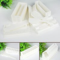 Wholesale 10pcs New Cooking Tools DIY Sushi Maker Rice Mold Kitchen Sushi Making Tool Set Pack Accessories Y50 JJ0237 M5