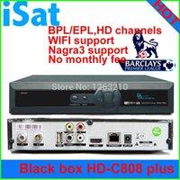 Feliz Año Nuevo! Decodificador Singapur starhub nagra3 TV de alta definición Receptor Negro Box HD-C808 Plus HD reloj de BPL / EPL Nagra3 + wifi dongle